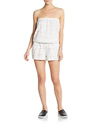Soft Joie Gidget Striped Short Jumpsuit Porcelain