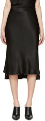 Protagonist Black Bias Cut Slip Skirt