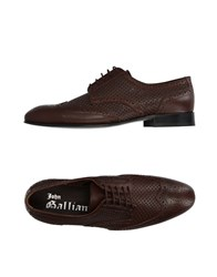 John Galliano Lace Up Shoes Dark Brown