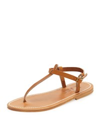 K. Jacques Picon Flat Thong Sandal Natural Women's Size 42.0B 12.0B