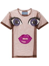 Viktor And Rolf Action Dolls Motif T Shirt Brown