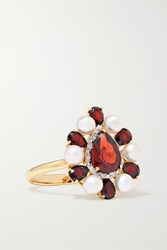 Anissa Kermiche Woman In Red 14 Karat Gold Multi Stone Ring 6
