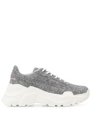 Joshua Sanders Two Tone Chunky Sneakers Grey