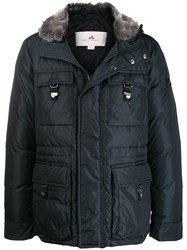 Peuterey Hooded Padded Jacket Blue
