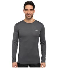 Columbia Midweight Mesh Long Sleeve Top Graphite Men's Long Sleeve Pullover Gray
