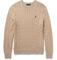 Polo Ralph Lauren Cable Knit Cotton Sweater Sand