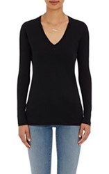 Barneys New York V Neck Long Sleeve T Shirt Black