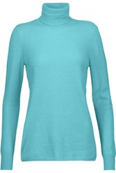 Magaschoni Cashmere Turtleneck Sweater Turquoise