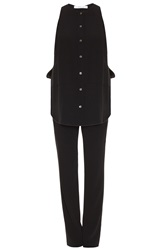 Derek Lam Crepe Jumpsuit With Shirt Top