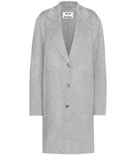 Acne Studios Landi Wool And Cashmere Coat Grey