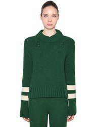 Baum Und Pferdgarten Wool Blend Knit Sweater Green