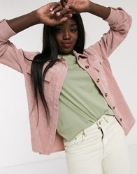 Pieces Overshirt In Pink Cord