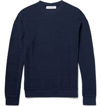 Orlebar Brown Pierce Cotton Terry Sweatshirt Storm Blue