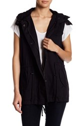 Velvet By Graham And Spencer Faux Fur Trim Vest Multi