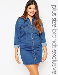 Alice And You Denim Shirt Dress Midblue