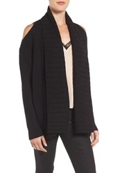 Chelsea 28 Women's Chelsea28 Shawl Collar Cold Shoulder Cardigan
