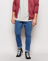 Zee Gee Why Jeans Dropsticks Drop Crotch Slim Taper Bugn Mid Wash Bugnblue