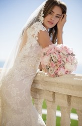 Brides And Hairpins 'Angelina' Lace Trim Tulle Veil