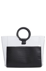 Vince Camuto Clea Faux Leather Tote Black