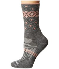 Smartwool Phd Outdoor Light Pattern Crew Medium Gray Women's Crew Cut Socks Shoes White