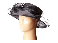 San Diego Hat Company Drs1004 Organza Dress Derby Hat With Wired Brim And Rosette Trim Black Dress Hats