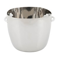 Tina Frey Designs Champagne Bucket With Leather Handles Stainless Steel