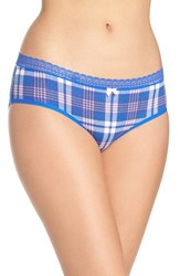 Betsey Johnson Women's Stretch Cotton Hipster Panty Mad For Plaid