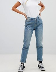 Urban Bliss Mom Jeans In Light Wash Light Wash Blue