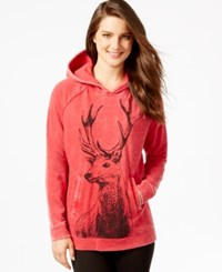 G.H. Bass And Co. Deer Graphic Hoodie Red Combo
