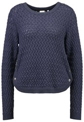 Object Objsibylle Jumper Ombre Blue Blue Grey