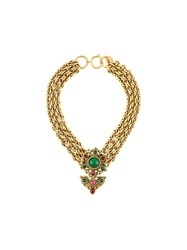 Chanel Vintage Gripoix Filigree Choker Metallic
