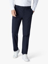 Jaeger Interest Pleated Trousers Navy