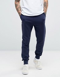 Lyle And Scott Slim Fit Sweat Pants Eagle Logo In Navy Navy