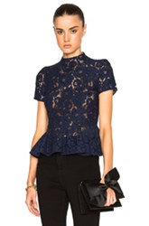Lover Oasis Flounce Top In Blue