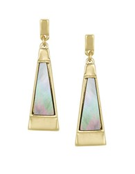 Laundry By Shelli Segal Mother Of Pearl Paddle Drop Earrings Grey
