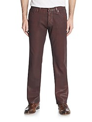 Cult Of Individuality Rebel Straight Leg Coated Jeans Brown