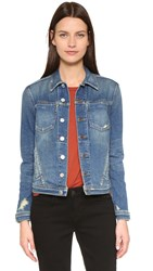 L'agence Celine Slim Fit Distressed Jacket Authentique Distressed