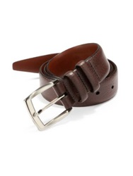 Saks Fifth Avenue Tumbled Leather Belt Burgundy Black Brown