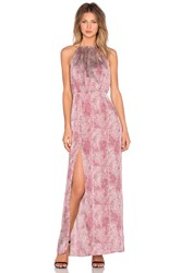 Wyldr Projection Maxi Dress Red