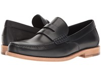 Coach Manhattan Leather Loafer Midnight Navy Slip On Shoes Blue