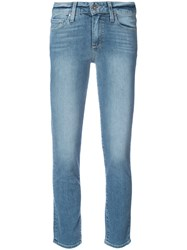 Paige High Rise Skinny Jeans Women Cotton 27 Blue