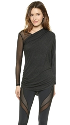 Michi Athena Top Charcoal Heather