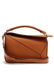 Loewe Puzzle Medium Grained Leather Cross Body Bag Tan