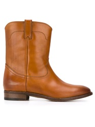 Ralph Lauren Western Ankle Boots Brown
