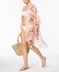 Inc International Concepts I.N.C. Ruffled Floral Cover Up And Wrap Created For Macy's Blush