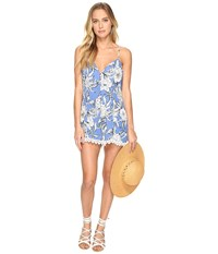 Lovers Friends Sapphire Romper Riviera Floral Women's Jumpsuit And Rompers One Piece Blue