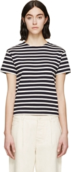 Nlst Navy And Cream Compact Jersey Striped True T Shirt