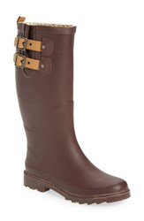 Chooka Women's 'Top Solid' Rain Boot Deep Merlot Matte