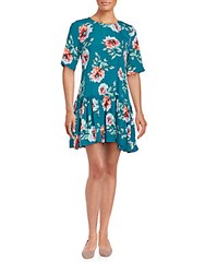 Minkpink Floral Printed Dress Teal Multi