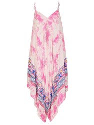 Izabel London Tie Dye Printed Jumpsuit Pink